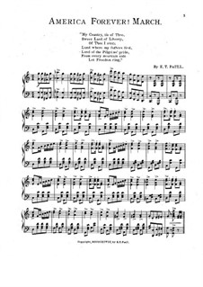 America Forever! March for Piano: America Forever! March for Piano by Edward Taylor Paull