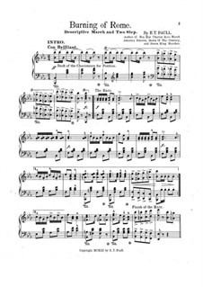 Burning of Rome: For piano by Edward Taylor Paull