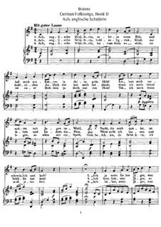 German Folk Songs, WoO 33: Volume I, No.8-14 by Johannes Brahms