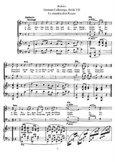 German Folk Songs, WoO 33: Volume III, No.43-49 by Johannes Brahms