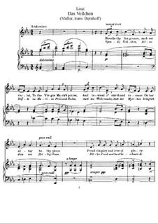 Muttergottes-Sträusslein zum Mai-Monate, S.316: Nr.1 Das Veilchen by Franz Liszt