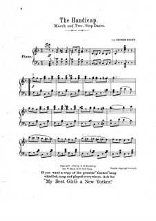 The Handicap: For piano by George Rosey