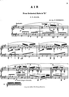 Aria and Gavotte: Version for piano by Johann Sebastian Bach