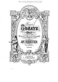 Sonata for Piano No.1 in E Major, Op.12: Movement I by Anton Rubinstein