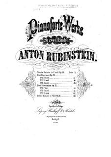 Sonata for Piano No.2 in C Minor, Op.20: Movement I by Anton Rubinstein