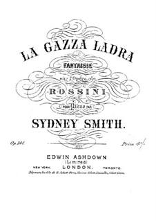 La gazza ladra (The Thieving Magpie): Fantasia, for piano by Gioacchino Rossini