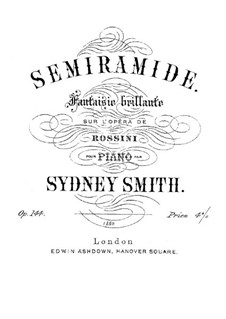 Semiramide: Fantasia, for piano by Gioacchino Rossini