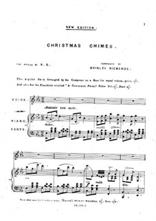 Christmas Chimes: For voice and piano by Brinley Richards