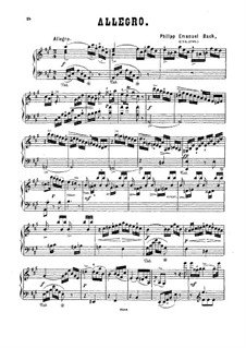Two Pieces: Arrangement for piano by Carl Philipp Emanuel Bach