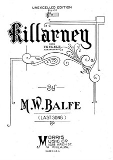 Killarney: For voice, ukulele and piano by Michael William Balfe