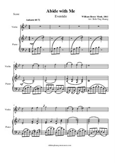Abide with Me: For piano and violin by William Henry Monk