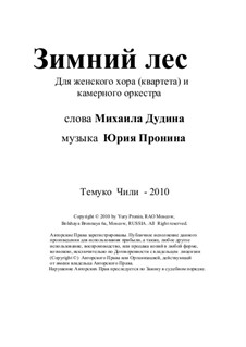 Winter forest. For female choir and chamber orchestra: Winter forest. For female choir and chamber orchestra by Yury Pronin