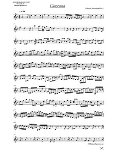 Partita for Violin No.2 in D Minor, BWV 1004: Chaconne. Arrangement for strings – parts by Johann Sebastian Bach
