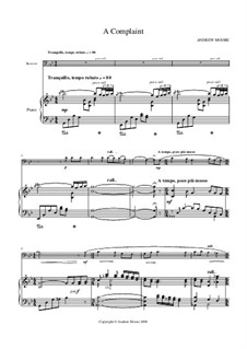 A Complaint: For bassoon and piano by Andrew Moore