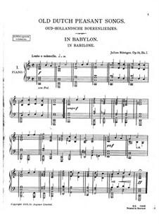 Oud-Hollandsche Boerenliedjes (Old Dutch Peasant Songs), Op.51: Oud-Hollandsche Boerenliedjes (Old Dutch Peasant Songs) by Julius Röntgen