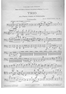 Piano Trio in C Minor, Op.50: Cello part by Julius Röntgen