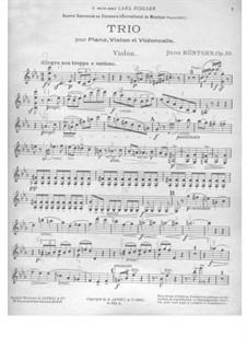 Piano Trio in C Minor, Op.50: Violin part by Julius Röntgen
