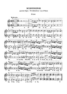 Miserere: For piano four hands by Giuseppe Verdi