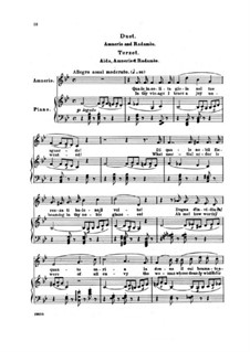 Fragments: Act I, Duet and Terzetto, for Soloists and Piano by Giuseppe Verdi