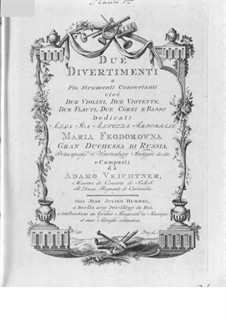 Two Divertissements for Winds and Strings: Parts by Franz Adam Veichtner