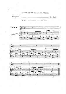 The Bohemian Girl: Act II, Come with the Gipsy Bride, for Voice and Piano by Michael William Balfe