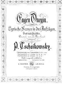 Complete Opera: Piano score by Pyotr Tchaikovsky