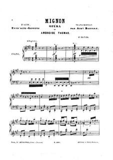 Mignon: Gavotte, for Piano by Ambroise Thomas