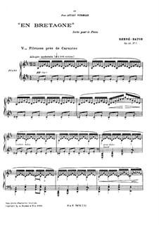En Bretagne, No.5 'Fileuses près de Carantec', Op.13: En Bretagne, No.5 'Fileuses près de Carantec' by Emmanuel Rhené-Baton