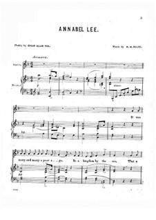 Annabel Lee: Annabel Lee by Michael William Balfe