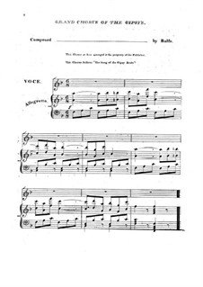 The Bohemian Girl: Act II, Come with the Gipsy Bride, for Choir and Piano by Michael William Balfe