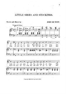 Little Shoes and Stockings: Little Shoes and Stockings by John de Witt