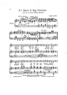If I were a Big Victrola: For voices and piano by James T. Duffy