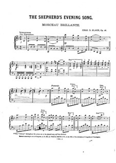 The Shepherd's Evening Song, Op.26: The Shepherd's Evening Song by Charles Dupee Blake