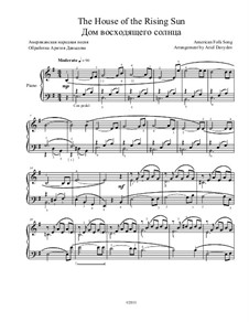 The House of the Rising Sun: For piano by folklore