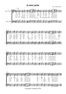 In dulci jubilo (In Sweet Rejoicing): For choir by Unknown (works before 1850)