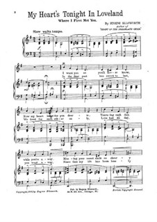 My Heart's Tonight in Loveland: My Heart's Tonight in Loveland by Eugene Ellsworth