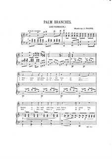 Palm Branches: For voice and piano (in C Major) by Jean-Baptiste Faure