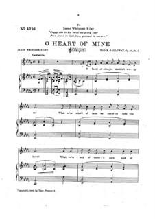O Heart of Mine, Op.46 No.1: O Heart of Mine by Tod Buchanan Galloway
