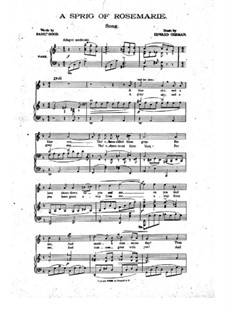 A Sprig of Rosemarie: A Sprig of Rosemarie by Edward German