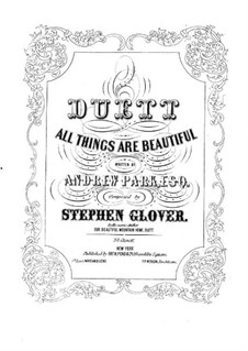 All Things are Beautiful for Voices and Piano: All Things are Beautiful for Voices and Piano by Stephen Glover
