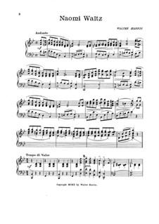 Naomi Waltz for Piano: Naomi Waltz for Piano by Walter Harris