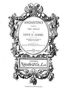 Andantino in D Flat Major: For piano by Edwin Lemare
