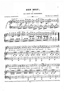 Ben Bolt: For voice and piano (D Major) by Nelson Kneass