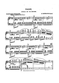 Fantasia on Themes from 'Faust by Gounod, Op.35: For piano by Joseph Leybach