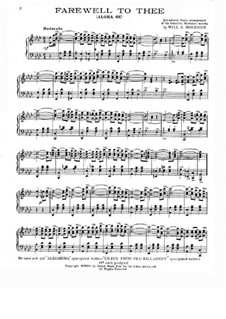 Farewell to Thee: For piano (A Flat Major) by Lydia Liliuokalani