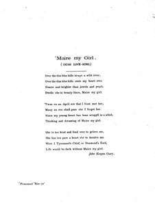 Maire My Girl: Maire My Girl by George Aitken