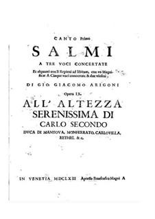 Salmi, Op.9: Salmi by Giovanni Giacomo Arrigoni