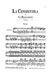 La Cenerentola (Cinderella): For voices and piano by Gioacchino Rossini