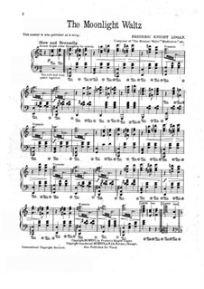 The Moonlight Waltz: For piano by Frederic Knight Logan
