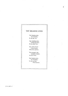 Six Love Songs, Op.40: No.3 Thy Beaming Eyes by Edward MacDowell